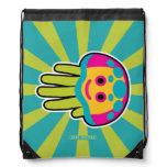 Hand shaped Swim with Immortal Jellyfish Drawstring Bag