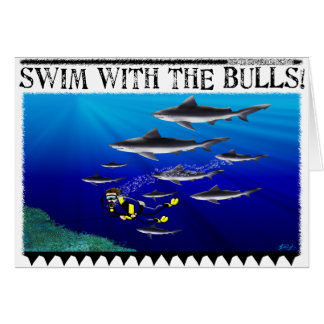 Swim with the Bulls Card (blank)