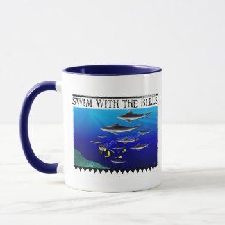 Swim with the Bulls Mug