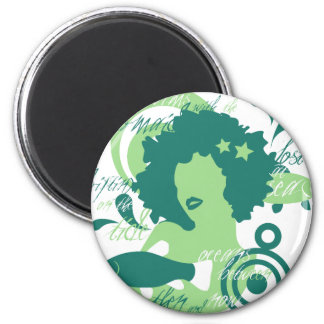 Swim With The Mermaids 2 Inch Round Magnet