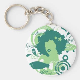 Swim With The Mermaids Basic Round Button Keychain