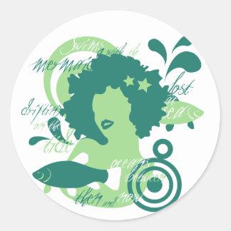 Swim With The Mermaids Classic Round Sticker