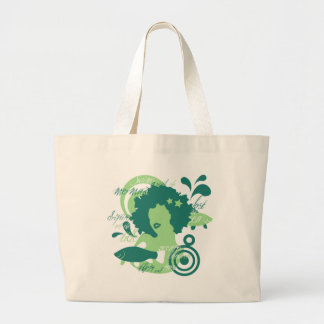 Swim With The Mermaids Large Tote Bag