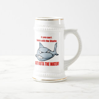 Swim with the Sharks Beer Stein