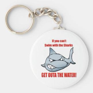 Swim with the Sharks Keychain