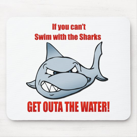 Swim with the Sharks Mouse Pad