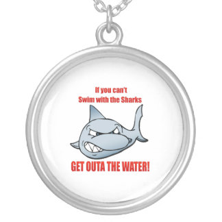 Swim with the Sharks Silver Plated Necklace