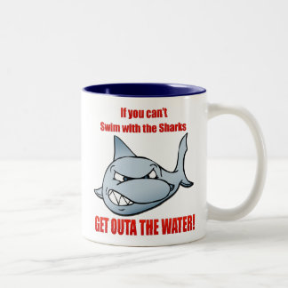 Swim with the Sharks Two-Tone Coffee Mug