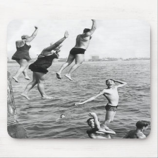 Swiming at the Pier Mouse Pad - 1780264