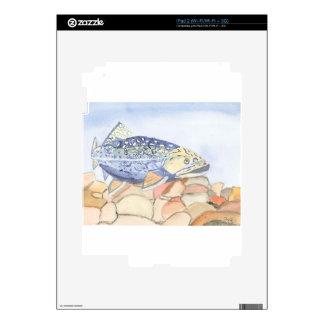 Swiming Trout watercolor iPad 2 Skins