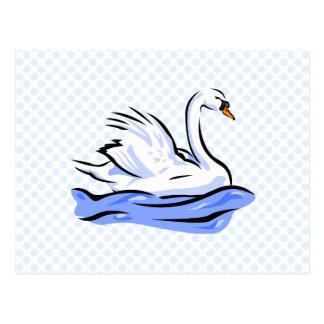 Swimmee Swan Postcard
