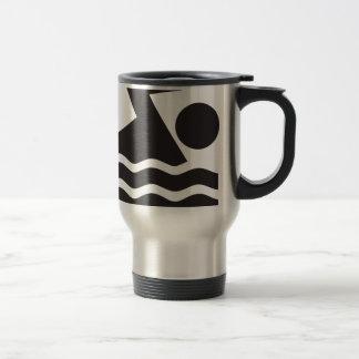 Swimmer 15 Oz Stainless Steel Travel Mug