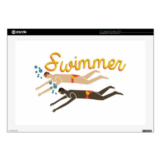 """Swimmer 17"""" Laptop Decal"""