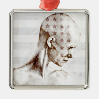 Swimmer 2013 metal ornament