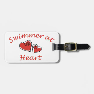 Swimmer at Heart Luggage Tags