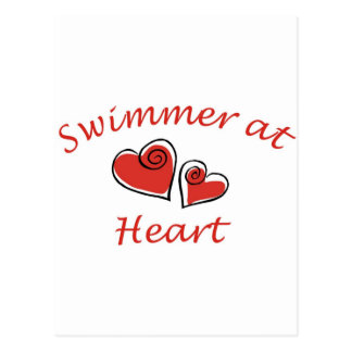 Swimmer at Heart Postcard