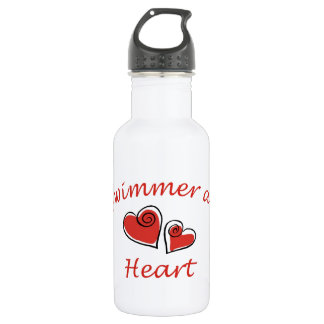 Swimmer at Heart Stainless Steel Water Bottle
