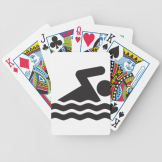 Swimmer Bicycle Playing Cards