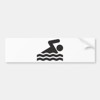 Swimmer Car Bumper Sticker