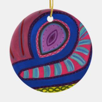 Swimmer Ceramic Ornament