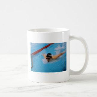 swimmer classic white coffee mug