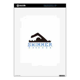 Swimmer Decal For iPad 2