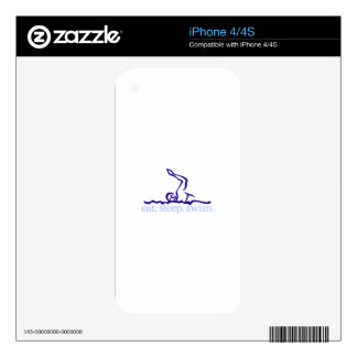 Swimmer Decal For The iPhone 4S