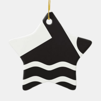Swimmer Double-Sided Star Ceramic Christmas Ornament