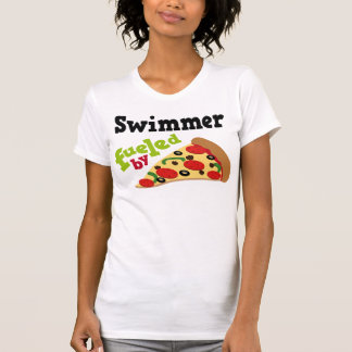 Swimmer (Funny) Pizza Tee Shirts