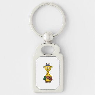 Swimmer Giraffe Cartoon Art Keychain