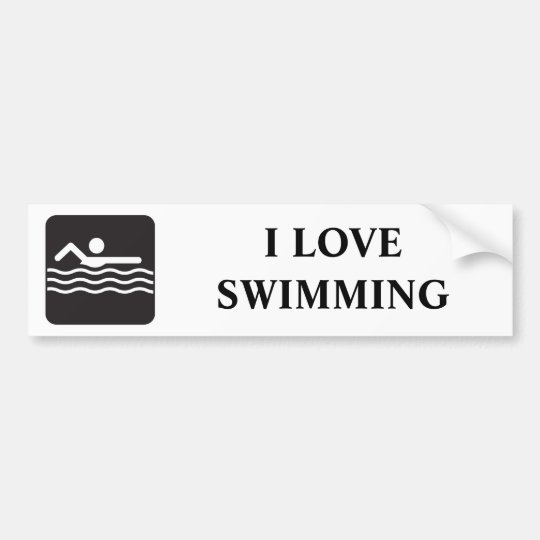 Swimmer Icon Bumper Sticker