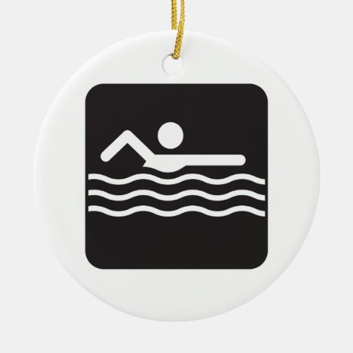 Swimmer Icon Christmas Tree Ornaments