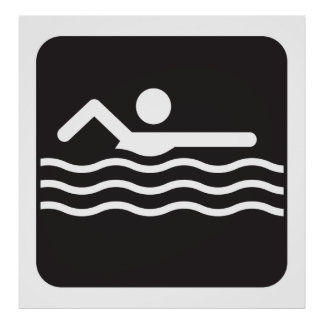 Swimmer Icon Poster