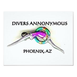 SWIMMER JOKES 4.25X5.5 PAPER INVITATION CARD