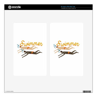 Swimmer Kindle Fire Decal