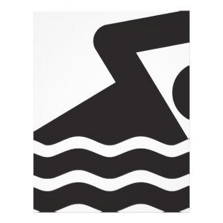 Swimmer Letterhead