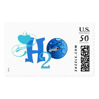 Swimmer Love H2O Stamps