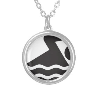 Swimmer Round Pendant Necklace