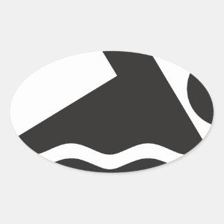 Swimmer Oval Sticker