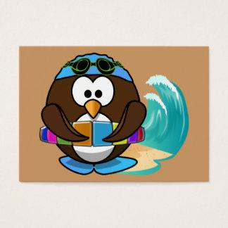 swimmer owl business card
