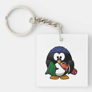Swimmer Penguin Cute Cartoon Keychain