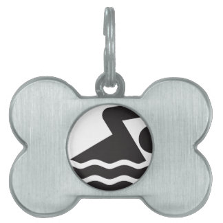 Swimmer Pet Name Tag