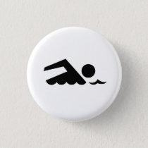 'Swimmer' Pictogram Button