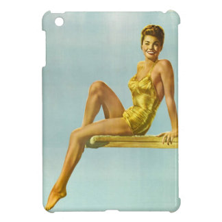 Swimmer pin-up girl vintage poster iPad mini cases