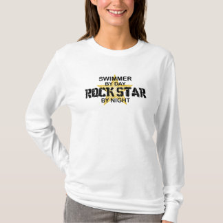 Swimmer Rock Star by Night T-Shirt