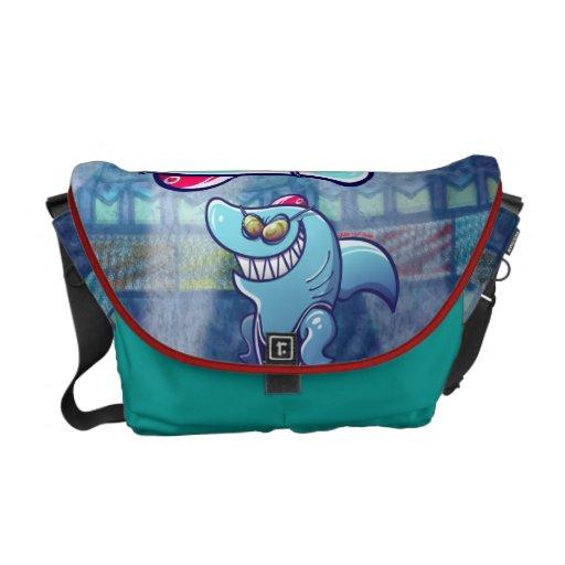 Swimmer Shark Courier Bags