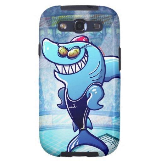 Swimmer Shark Galaxy S3 Cases