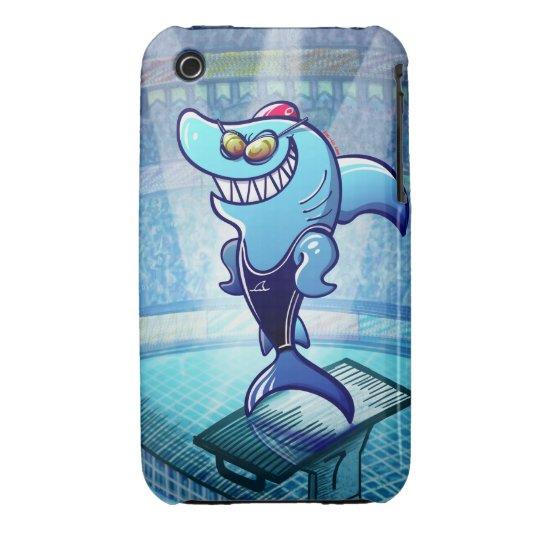 Swimmer Shark iPhone 3 Case-Mate Case