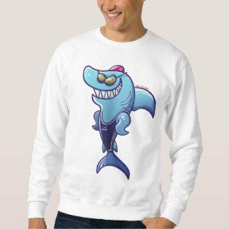 Swimmer Shark Sweatshirt