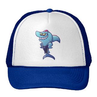 Swimmer Shark Trucker Hat